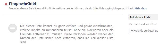 Sicherheitseinstellungen auf Facebook - Freundeslisten und deren Verwaltung (6/6)