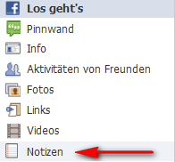 Reiter Facebook Notizen