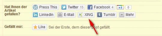 Eigene Sharing-Button bei Wordpress einfügen – Beispiel Xing (4/4)