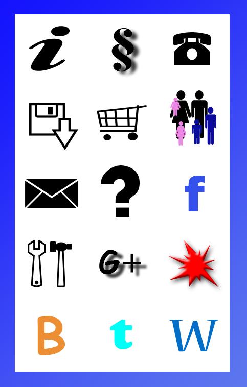 Icon-Set Buchstaben und Formen