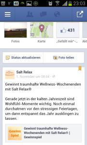 Ansicht über Facebook-App by Nicola Dülk