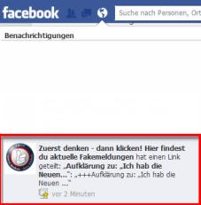 Benachrichtigung von ZDDK auf Facebook