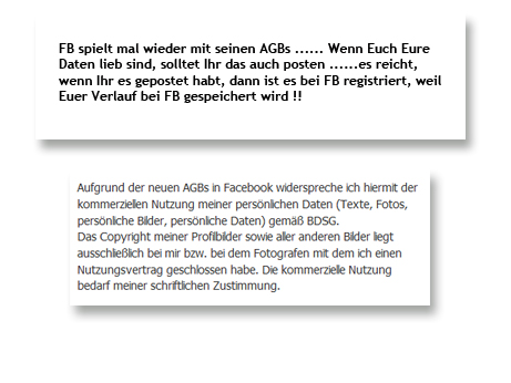 Hoax: Ich widerspreche den Facebook AGB