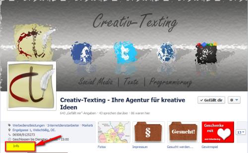 Anruf-Button auf der Facebook-Fanpage