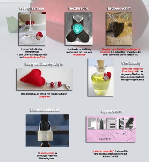 Geschenke mit Herz zum Valentinstag